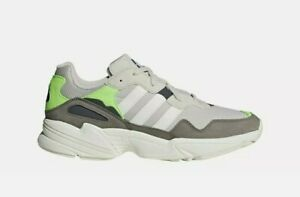 MEN'S ADIDAS 'YUNG-96' CASUAL RUNNING SHOES - SOLAR GREEN Size 11 - F97182