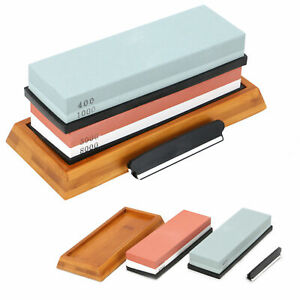 400/1000+3000/8000 Grit Premium Whetstone Cut knife Sharpeners Wet Stone Set