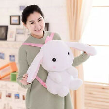 Holland Lop bunny Mini Lop Rabbit Plush Doll Cute Baby Girl Backpack Schoolbag