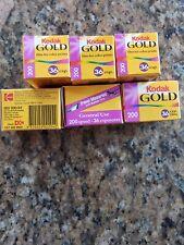 6 Rolls Kodak Gold 200 - 36 Exposure 35mm Color Films