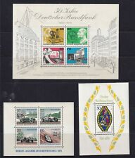 West Germany Berlin 1971 to 1976 3  x Miniature Sheets MUH