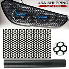 Car Rear Tail Light Cover Black Honeycomb Sticker Tail-lamp Decal Accessories