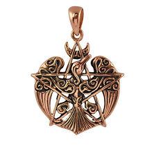 Copper Raven Pentacle Pendant - Wicca/Pagan Celtic Pentagram Talisman/Amulet