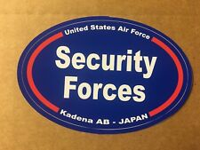 UNITED STATES AIR FORCE SECURITY FORCES K JAPAN Bumper Sticker - 4 3/4 Inch OVAL