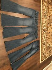 Lot Of 3 Jeans AE ARTIST Sz 4 Hipster bootcut distressed denim pants