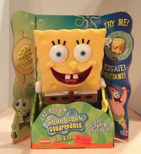 "SpongeBob SquarePants 9"" Talks 25+Words+Phrases Eyes Pop Mattel 2002 NEW! BOXED!"