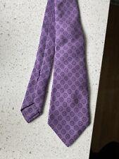 Kiton tie geometric pattern