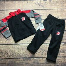 NHL Kids Boys Small 4 New Jersey Devils 2 Piece Track Suit Pants Jacket NEW