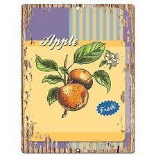 PP0542 Fresh Apple Plate Chic Sign Bar Store Shop Cafe Restaurant Kitchen Decor