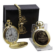 British Railways Early Vintage logo Gold Pocket Watch Luxury Gift Box Lion Wheel