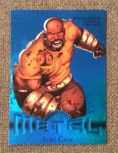 2013 Fleer Marvel Retro BLUE Foil Precious Metal Gem LUKE CAGE Card #6 PMG /50