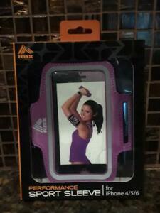 RBX Sports Sleeve IPhone 4/5/6 High Performance Adjustable Armband purple
