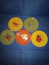 "5pc Bethany Lowe Mini ""Summer"" Plates"