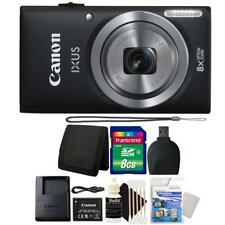 Canon IXUS 185 / ELPH 180 20MP Digital Camera Black and 8GB Accessory Bundle