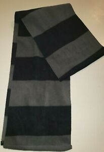 OLD NAVY mens WINTER FLEECE SCARF 68 INCH LONG 2 SHADES OF GRAY STRIPES nice@@