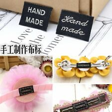 50 Pcs Woven Label Labels Sign Handmade Sew on Craft Hair Accessories