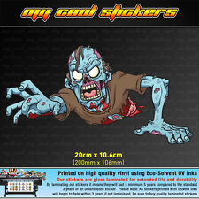 Crawling Zombie 20cm wide Vinyl Sticker Decal for car, ute, 4x4, skate board