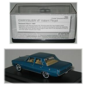 Chrysler VF Valiant Regal Sedan Turquoise TR91 TRAX 1:43 Scale Diecast Model Car