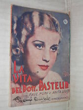 LA VITA DEL DOTT PASTEUR Paul Muni e Anita Louise Warner Bros 1936 libro romanzo