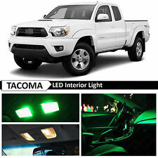 9x Green Interior LED Light Package Kit for 2005-2015 Toyota Tacoma