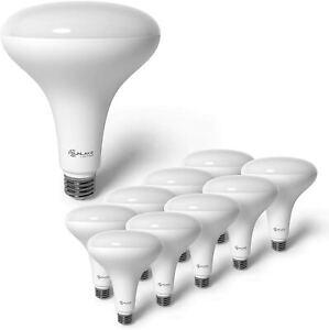 SunLake Lighting 10 Pack BR40 LED Light Bulb, 14W=85W, Dimmable, 5000K Daylight,