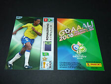 RONALDINHO BRASIL BRESIL PANINI CARD FOOTBALL GERMANY 2006 WM FIFA WORLD CUP
