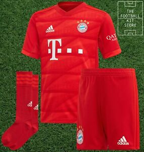 adidas Bayern Munich Home Kit Youth - Football Shirt Shorts Socks - 3-4 Years