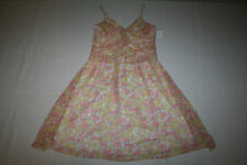 Windsor Womens Size 11 Spaghetti Strap Polyester Pink & Yellow Floral Dress NEW