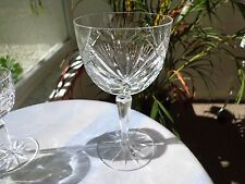 Set of 4 Elegant Hand Cut High Quality Crystal Water Goblets