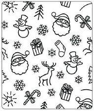 Crafts Too Large 12.5cm x 15cm Embossing Folder Natale sfondo CTFD 4007