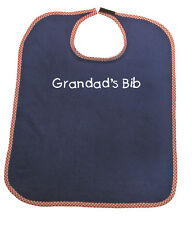 Personalised Adult Towelling Bib in choice of colour