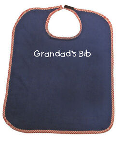 Personalised Adult Towelling Bib in choice of 4 colours and personalisation