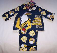 West Coast Eagles AFL Boys Mascot Navy Flannel Pyjama Set Size 1 New