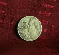 1963 Socialist Federal Republic of Yugoslavia 10 Dinara World Coin Woman Grain
