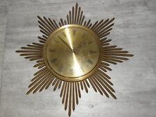 vintage Wall Clock Retro Sun BEAMS Pendulum ato junghans WANDUHR horloge soliel