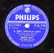 1958 UK #16 DORIS DAY 78 A VERY PRECIOUS LOVE /TEACHER'S PET UK PHILIPS PB799 E+
