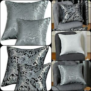 NEW HOME DECORATION NEW JACQUARD CUSHION COVERS OR FILLED cushion FREE P&P DEALS