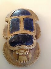 Unusual Egyptian Carved Scarab with Symbols / Hieroglyphics
