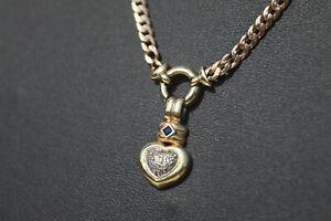 04 Collier Goldkette aus 585 14k Gelbgold 10,8g mit div. Brillant spl.