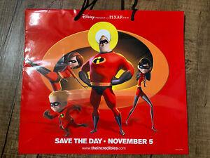 DISNEY PIXAR THE INCREDIBLES REUSABLE SHOPPING GIFT BAG Save The Date Promo