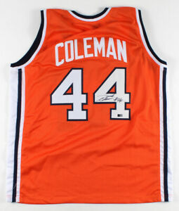 Derrick Coleman Signed Syracuse Orange Jersey (AIV COA)  #1 Pick 1990 / N.J Nets