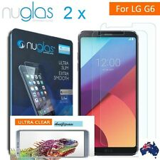2 X LG G6 Screen Protector, Genuine Nuglas 9H Tempered Glass Film