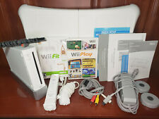 Works Great! Nintendo Wii Console w/ Balance Board - Wii Fit & Play Games Bundle