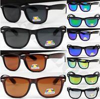 POLARIZED Classic Square  Sunglasses Mens Womens UV400 CE Vintage Retro Shades