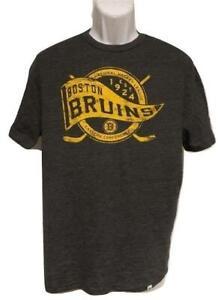 New Boston Bruins Mens Sizes M-L-2XL Majestic Gray Shirt
