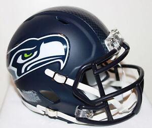 Russell Wilson Seattle Seahawks Speed Riddell Custom Mini Helmet