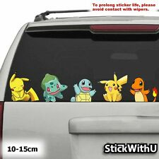 5x PACK Pokemon Go Vinyl Decal Car Sticker Pikachu Charmander Squirtle pg102