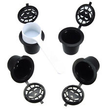 4x Refillable Reusable Coffee Capsules Pods For Nespresso Machines Spoon F9J7
