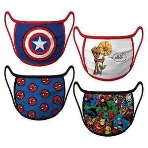 Disney Super Hero Marvel Cloth Face Mask 4 Pack Kids & Adult Sizes S M L XL
