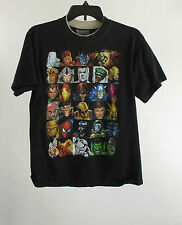 Boys Marvel Heroes and Villains Black Crew Neck Graphic Tee T-shirt Size XL
